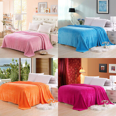 6color Fashion Luxury Soft Home Rome Blanket Coral Plush Cashmere Mat Quality UK
