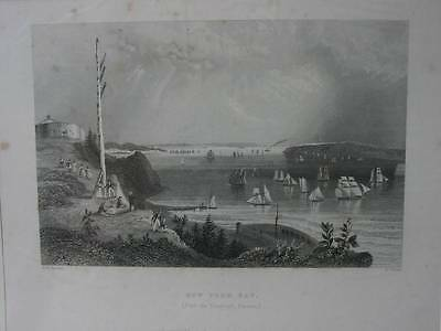85841-Amerika-USA-United States-New York Bay-Stahlstich-Steel engraving