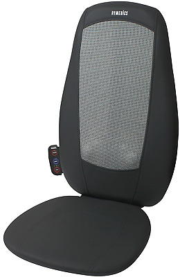 New Shiatsu Full Back And Shoulder Massager Cushion Body Chair With Heat Mode UK