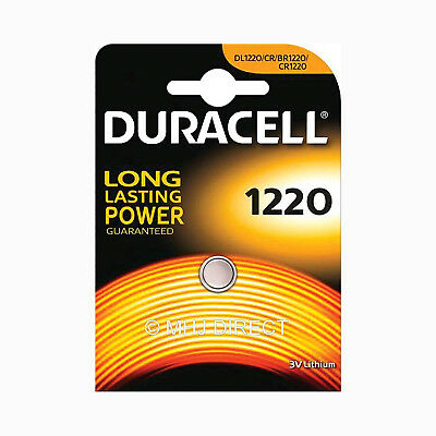 1 x Genuine Duracell CR1220 DL1220 Lithium 3v Batteries Coin Cell Use By 2026