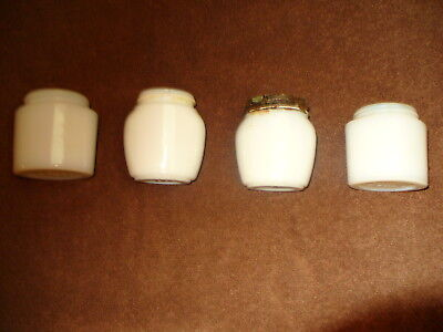 four  Vintage Pond s  Milk Glass Jars 1940 s very nice dug up