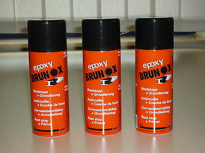 Brunox Epoxy 3 x 400 ML Spray Rostumwandler Rostsanierer Grundierer