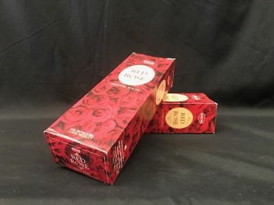 HEM Incense Sticks 2 boxes of 12 hexagon packets-Red Rose- FREE POSTAGE