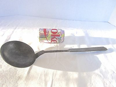 Antique Wrought Iron Ladle Hand Forged Primitive Early 1800s 17 inches long