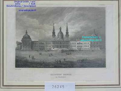 26245-Portugal-Portuguesa-KLOSTER MAFRA-Stahlstich-Steel engraving-1860