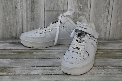POLO ASSN MENS BRANSON MID SNEAKERS TRAINERS BLACK //WHEAT DOUBLE LACE BOXED U.S