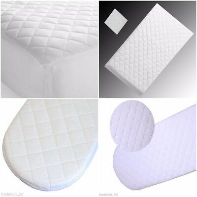 Quilted Breathable Waterproof Moses Pram Crib Cradle Mattress Made in England