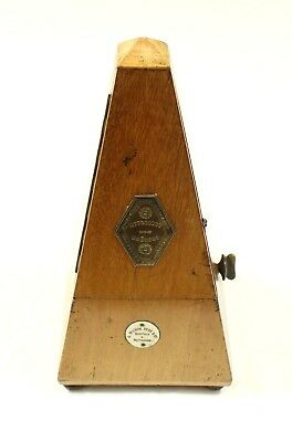 VINTAGE French MAELZEL WOODEN PYRAMID METRONOME (Fine Working Condition)
