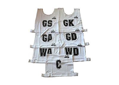 Rhino Senior Mesh Netball Bib Set - White | POSBIB-Adult-White