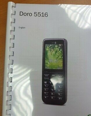 Doro 5516 Printed Instruction Manual User Guide 70 Pages A5