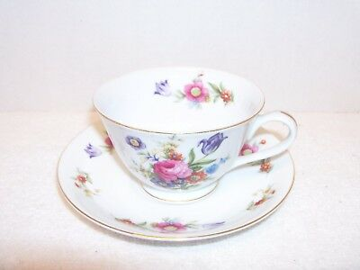 Cherry China Tea Cup and Saucer- Made in Occupied Japan