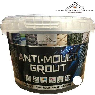 White Anti mould grout, Flexible, Water resistant, Wall or floor tiles