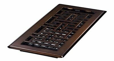 Decor Grates AJH410-RB Oriental Floor Register, Rubbed Bronze, 4-Inch by 10-Inch