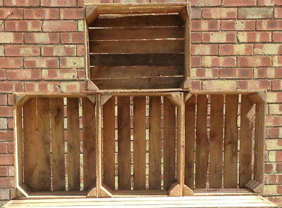 1 Apple Crate - GENUINE VINTAGE - Rustic with Character - Wooden Storage Box