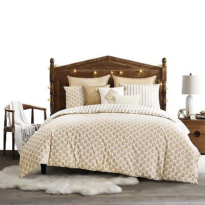 Tangier Full/Queen Duvet Cover Set in Gold