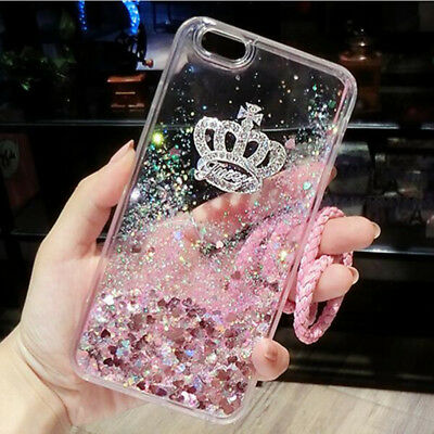 Girls Bling Glitter Sparkle Liquid Quicksand Case Cover For iPhone X XS Max XR 8