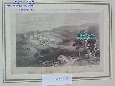 44909-Asien-Israel-Palestine-BETHANIEN-BETHANY-Stahlstich-Steel engraving-1870
