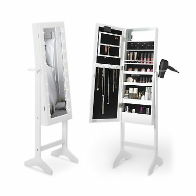 Beautify Floor Standing Make Up and Jewellery Organiser Cabinet with Mirror &...