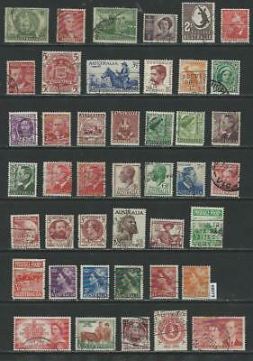 #8079 AUSTRALIA Lot of Early Issues Used Combine Shipping