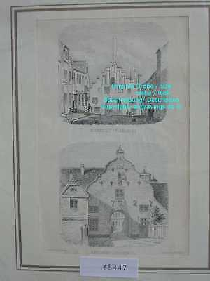 65447-Schleswig-Holstein-Flensburg-Lithographie-Lithography-1875