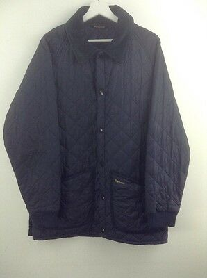 Mens barbour D907 country liddesdale blue jacket size M stock No.Y361