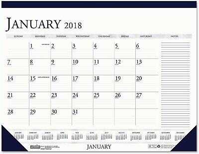 Year 2018 Monthly Calendar 17 x 22 Desk Pad House of Doolittle Notes Section