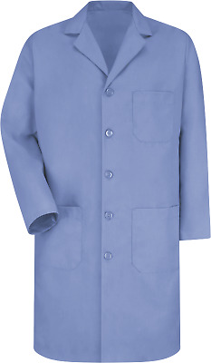 Red Kap 5 Button Med Blue Unisex KP14MP Lab/Shop Coat/Set of 3