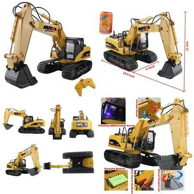 Fistone Rc Excavator 15Ch 2.4G Crawler Truck Wireless Digger Games Toy Electroni