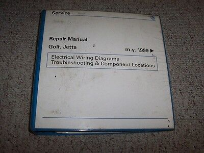 2002 vw volkswagen golf jetta electrical wiring diagrams troubleshooting  manual