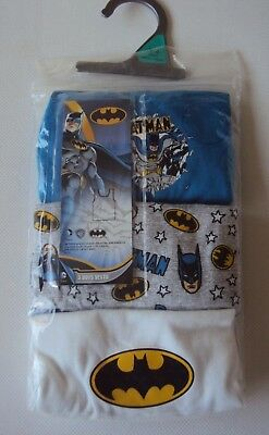 Batman Baby Boys Blue White Vest Underwear Pack of 3 Age 18/24 Months NEW