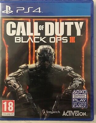 Call of Duty: Black Ops III (Sony PlayStation 4 /PS4) New Sealed Free UK P&P