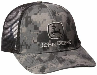 658a0650a1aa6 John Deere Mens Digital Camo Mesh Cap Embroidered Curved Bill One Size  Cotton