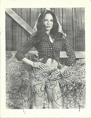 Catherine Bach Dukes Of Hazzard Hand Signed Autographed Photo With Flower Sketch