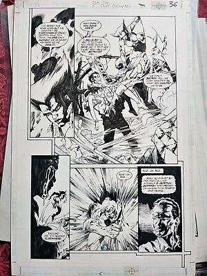 🐅 VIXEN! JLA Incarnations #5 pg36 ORIGINAL E. Battle & K. Champagne Comic Art!