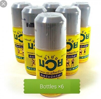 Namman Muay Thai Boxing Oil 120cc ×6 bottled for only £49.99 UK stock