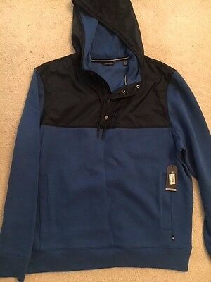 Nautica Navy/Royal Blue Fleece Pullover With Hood (Size L) Brand New With Tags