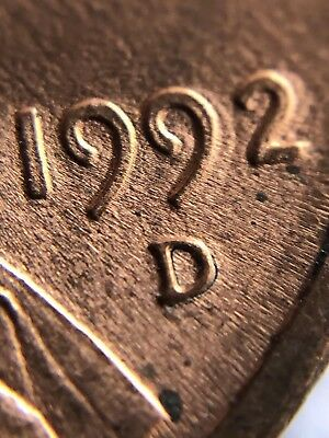 1992 D Double Die Obverse And Reverse Error Penny