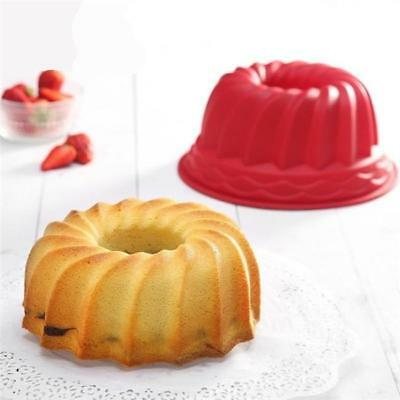 "DIY Silicone 9"" Bundt Swirl Ring Cake Baking Tin Mold Mould Pan Bakeware N7"