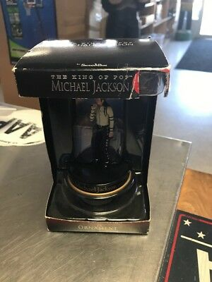 Michael Jackson the King of Pop Christmas Ornament Figurine 2010 New in box