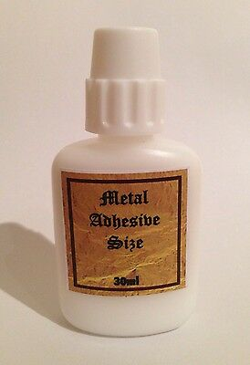30ml Metal Leaf Size. Acrylic Adhesive Gilding Glue. For Gold, Silver, Copper