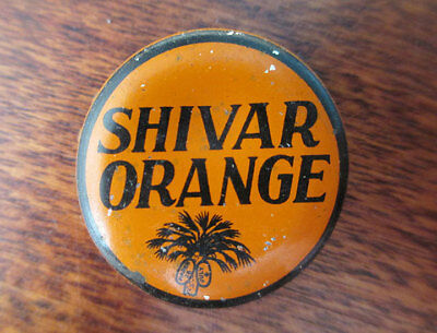 Vintage SHIVAR Orange Soda Cork Bottle Cap, South Carolina Tax