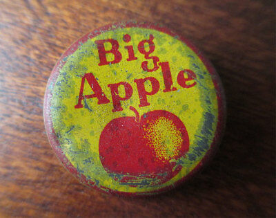 Vintage BIG APPLE Soda Cork Bottle Crown Cap