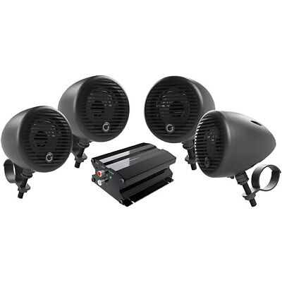 PLANET AUDIO PMC4B Planet Motorcycle/ATV Sound System with Bluetooth 2 pairs ...