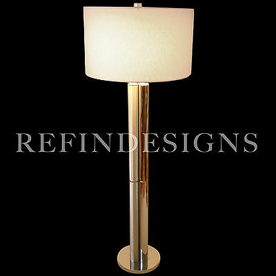 Mutual Sunset Lamp Co Art Deco Revival Modern Chrome Atomic Space Age Floor Lamp