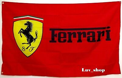 Ferrari Flag Banner 3x5 ft Italy Car Manufacturer Red NEW FREE SHIPPING HOT
