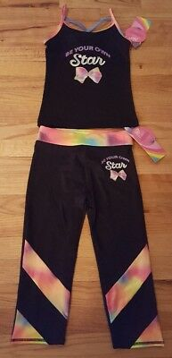 JoJo Siwa Girls Cami Top Capri Pants Be Your Own Star Size 7 8 Freestyle Danskin
