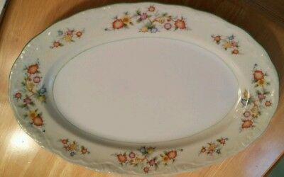 Princess China vintage floral platter made in Japan 11.5 inches