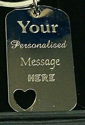 Personalised-Heart-Shape-Keyring-Valentines-Engraved-Mothers-Day-Gift Keychain