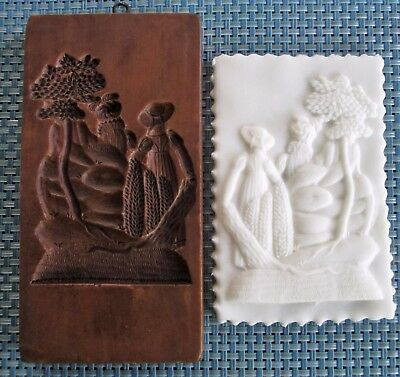 Springerle Speculaas Butter Cookie Paper Casting Stamp Press Mold  LOVERS STROLL