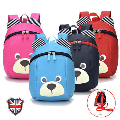 Colourful Safety Strap Kids Bag Cartoon Baby Toddler Harness Reins Bag Backpack